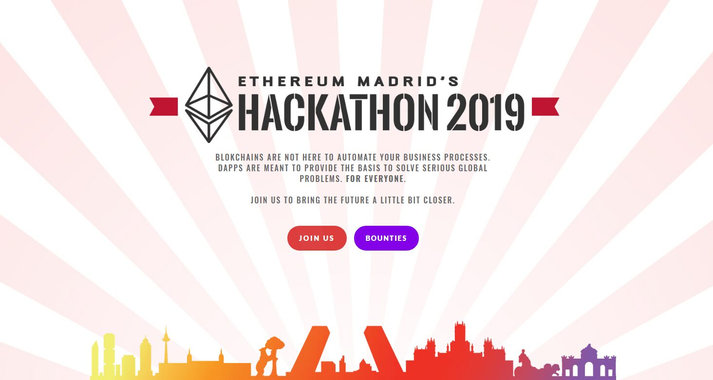 Este fin de semana tendrá lugar la Hackathon 2019 de Ethereum Madrid
