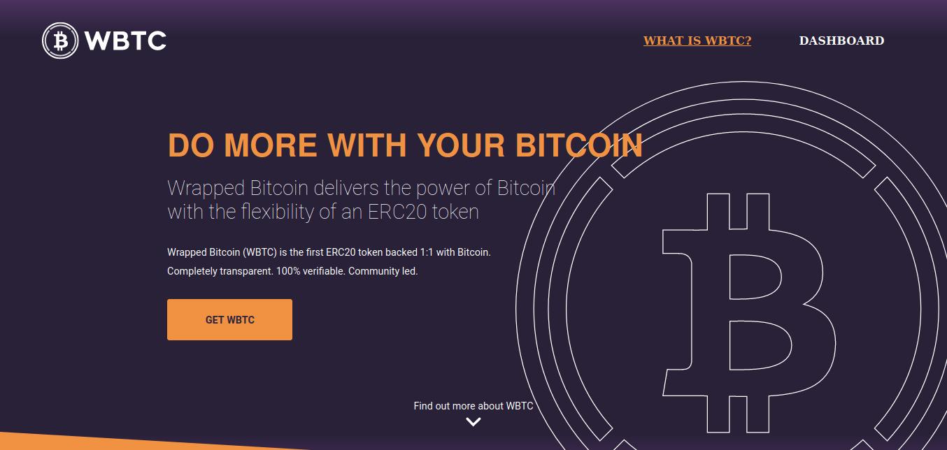 wBTC, wrapped de BTC en Ethereum para habilitar el DeFi