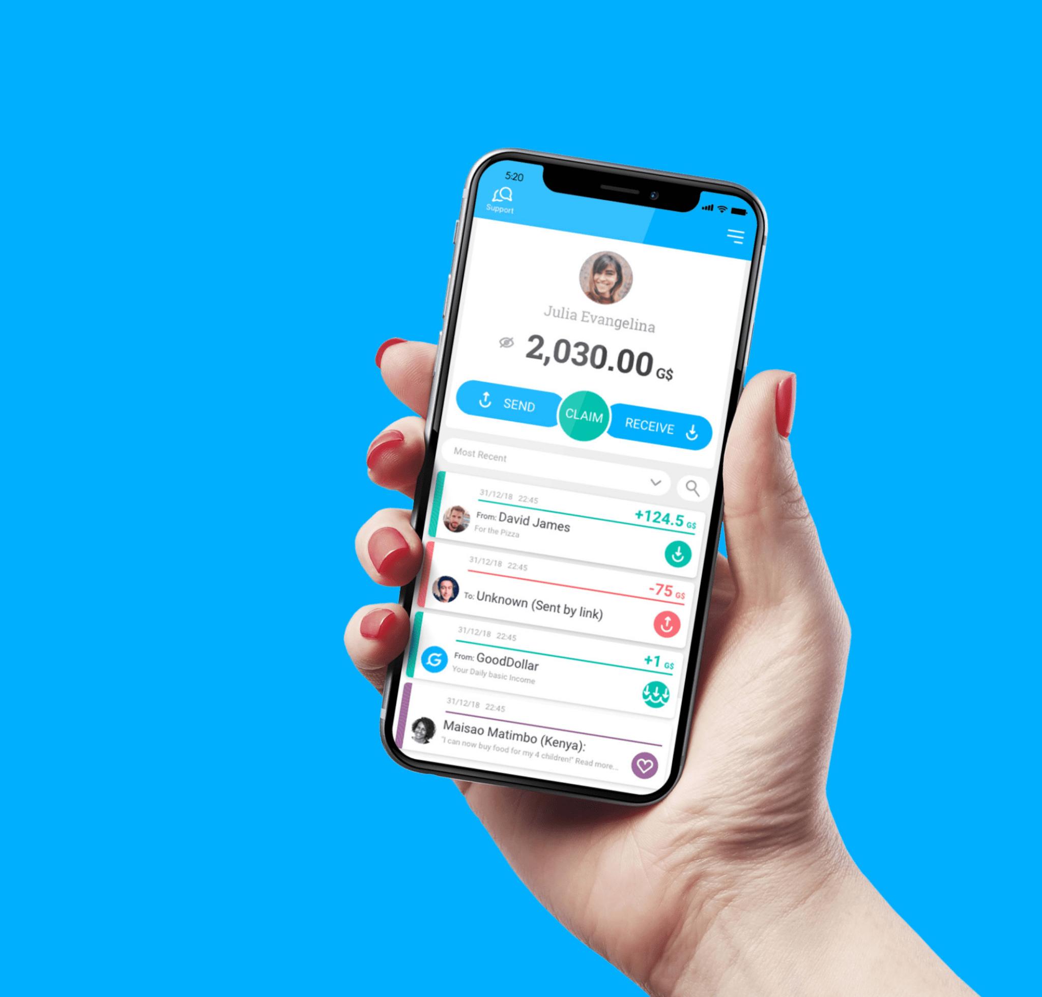 GoodDollar una iniciativa que nace para crear y emitir una moneda estable (G$) que se puede distribuir diariamente entre millones de usuarios