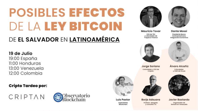Posibles efectos de la ley bitcoin de El Salvador en Latinoamércia